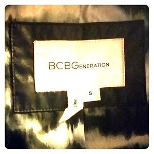 BCBG size small light weight jacket with hood.